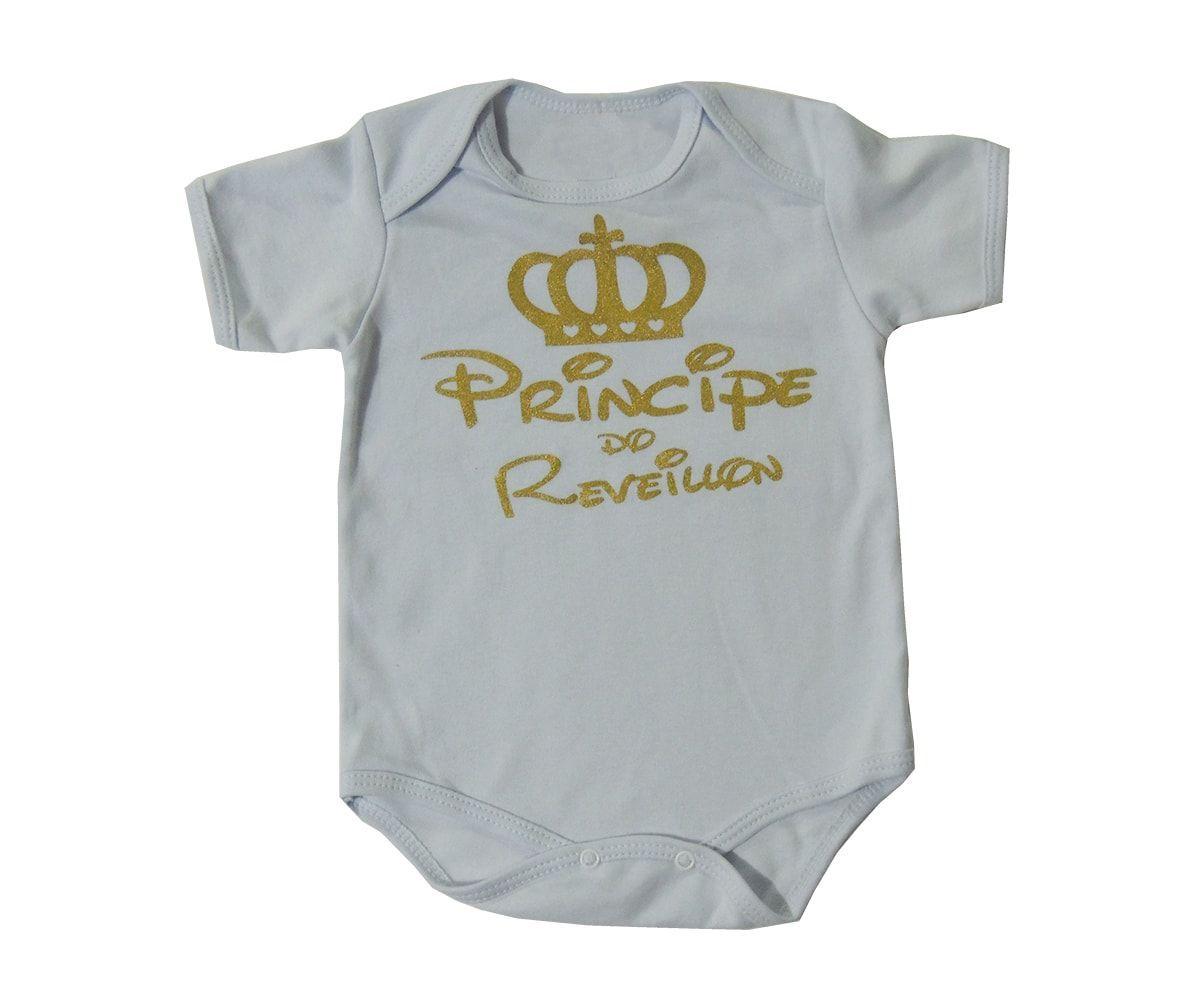 Body Bebê Príncipe do Réveillon Menino