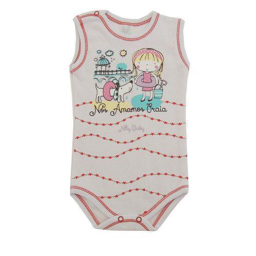 Body Bebê Regata Amamos Praia