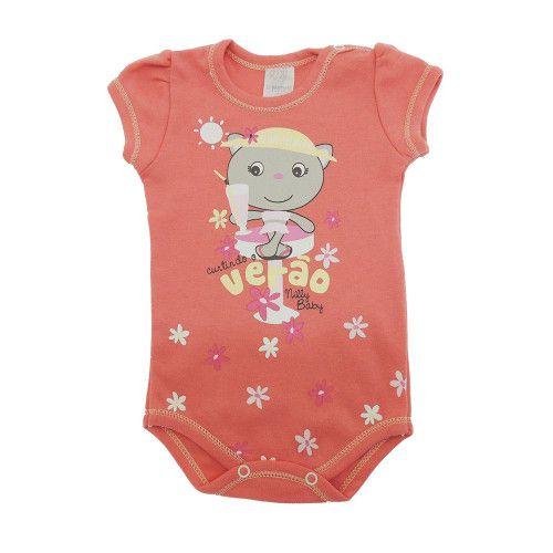 Body Bebê Regata Gatinha e Curtindo o Verão