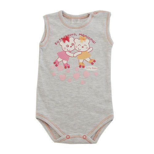 Body Bebê Regata Ursinhas Patinadoras