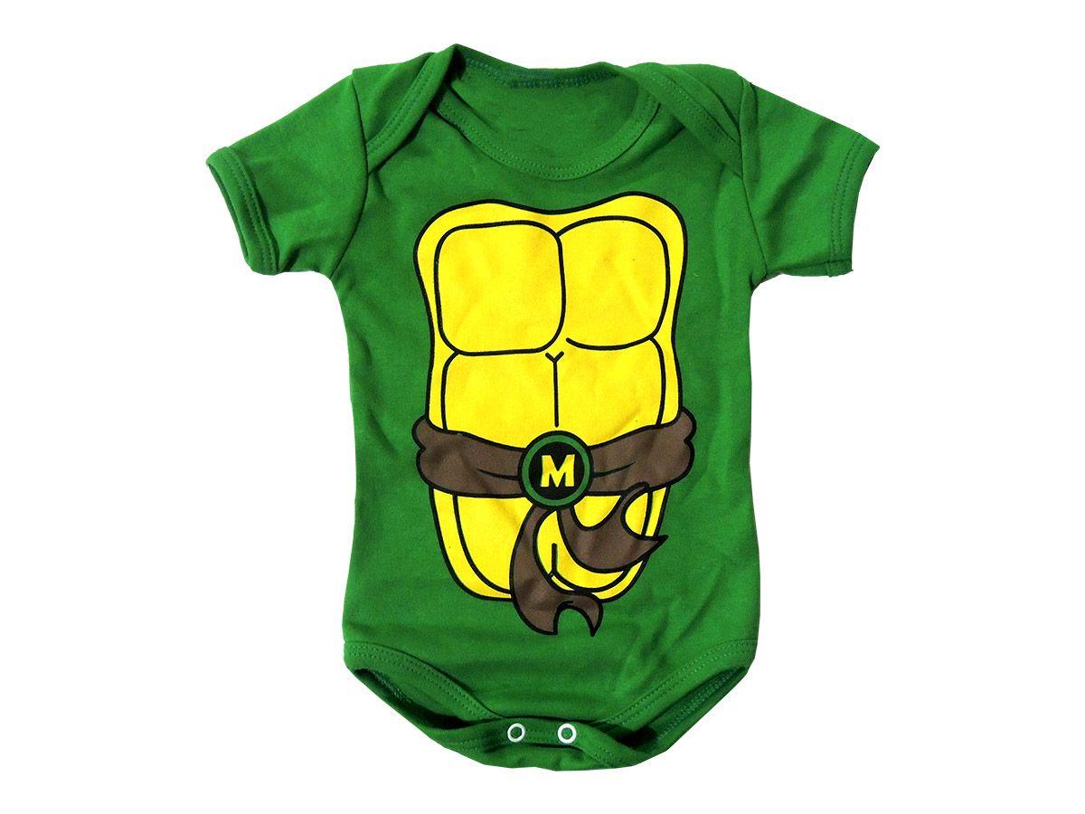 Body Bebê Tartaruga Ninja