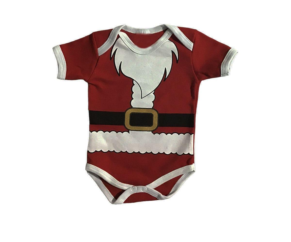 Body de Bebê Papai Noel de Natal