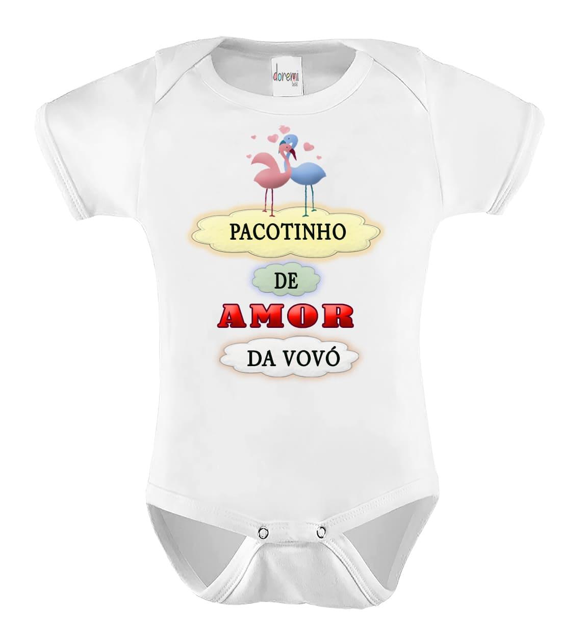 Body de bebê personalizado Pacotinho de Amor da Vovó