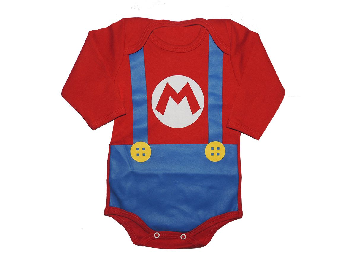 Body Divertido Super Mario Bros M/L - Infantil