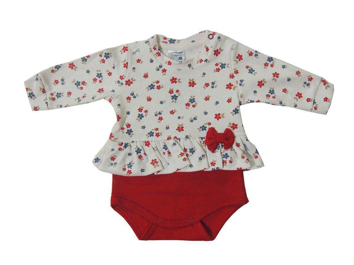 Body e Calça Para Bebê Menina - Curioso