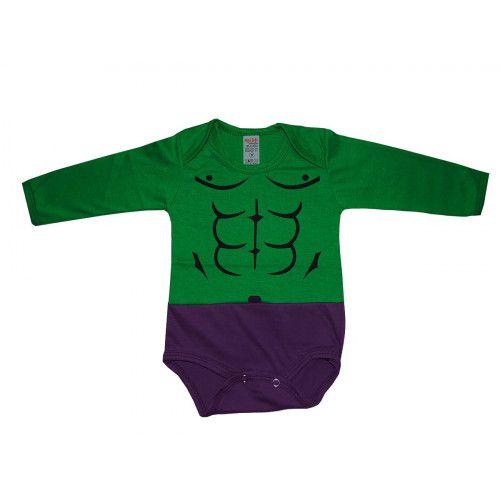 Body Infantil Incrível Hulk Manga Longa