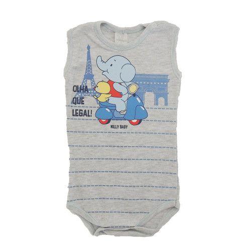 Body Infantil Menino Regata Elefantinho