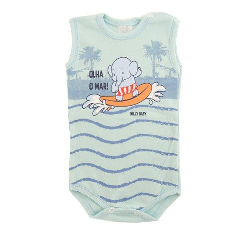 Body Infantil Menino Regata Elefantinho no Mar