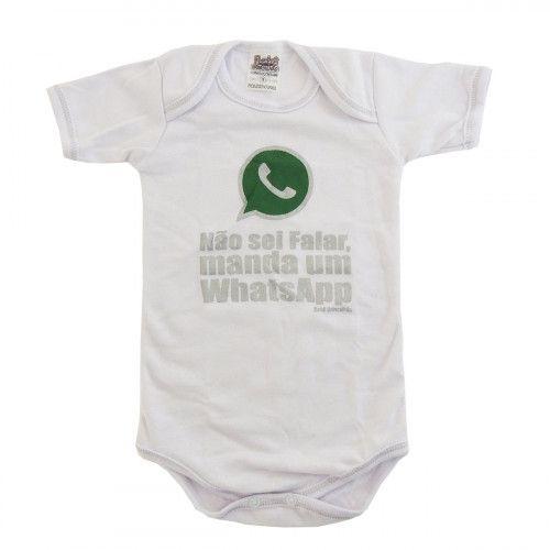 Body Infantil Não Sei Falar, Manda um WhatsApp