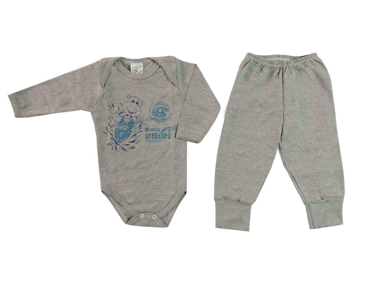 Body M/L e Calça Bebê Menino- P ao G