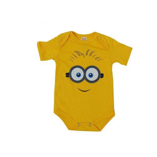 Body Manga Curta Bebê Minions