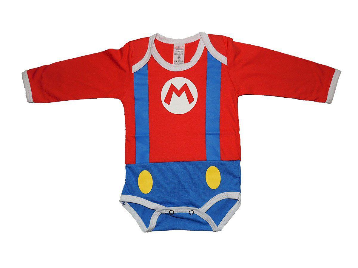 Body Manga Longa Super Mario Bros
