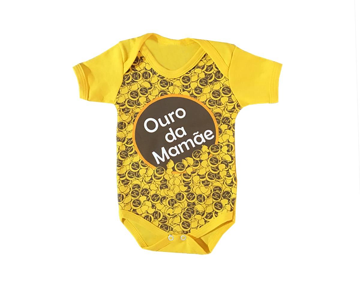 Body Para Bebê Ouro da Mamãe