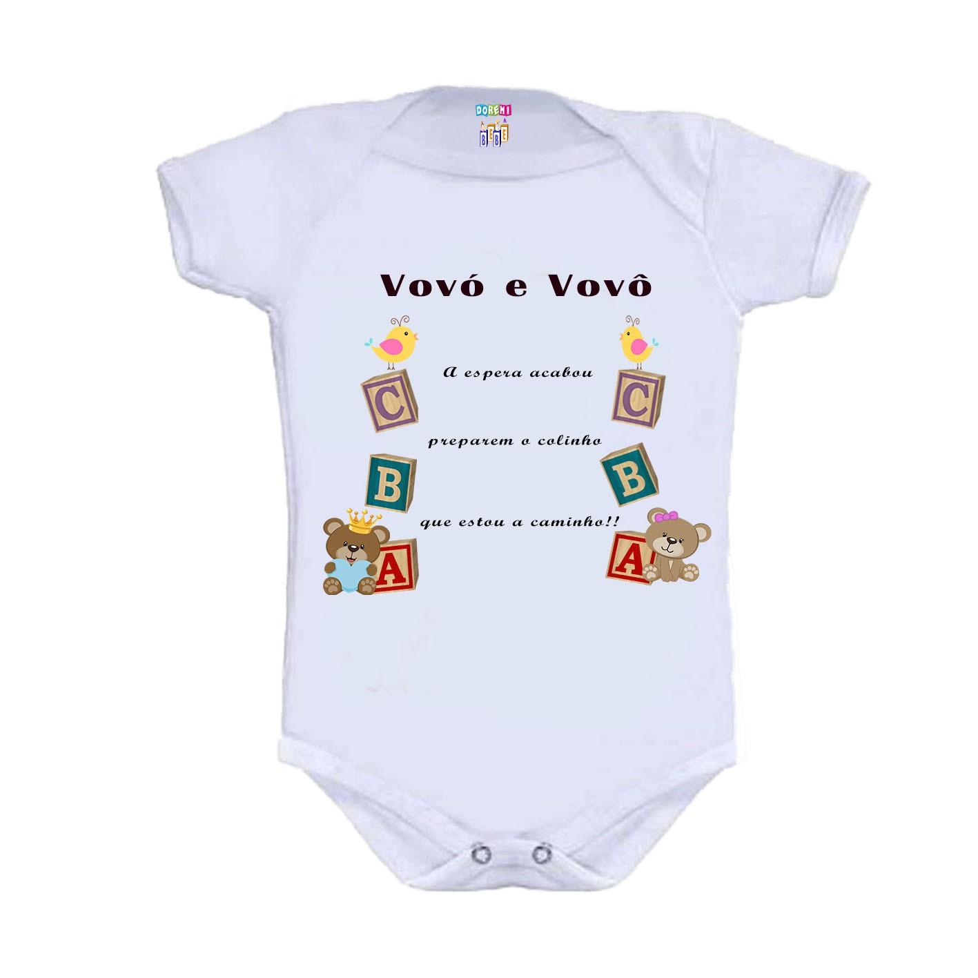 Body Personalizado Bebê a Caminho