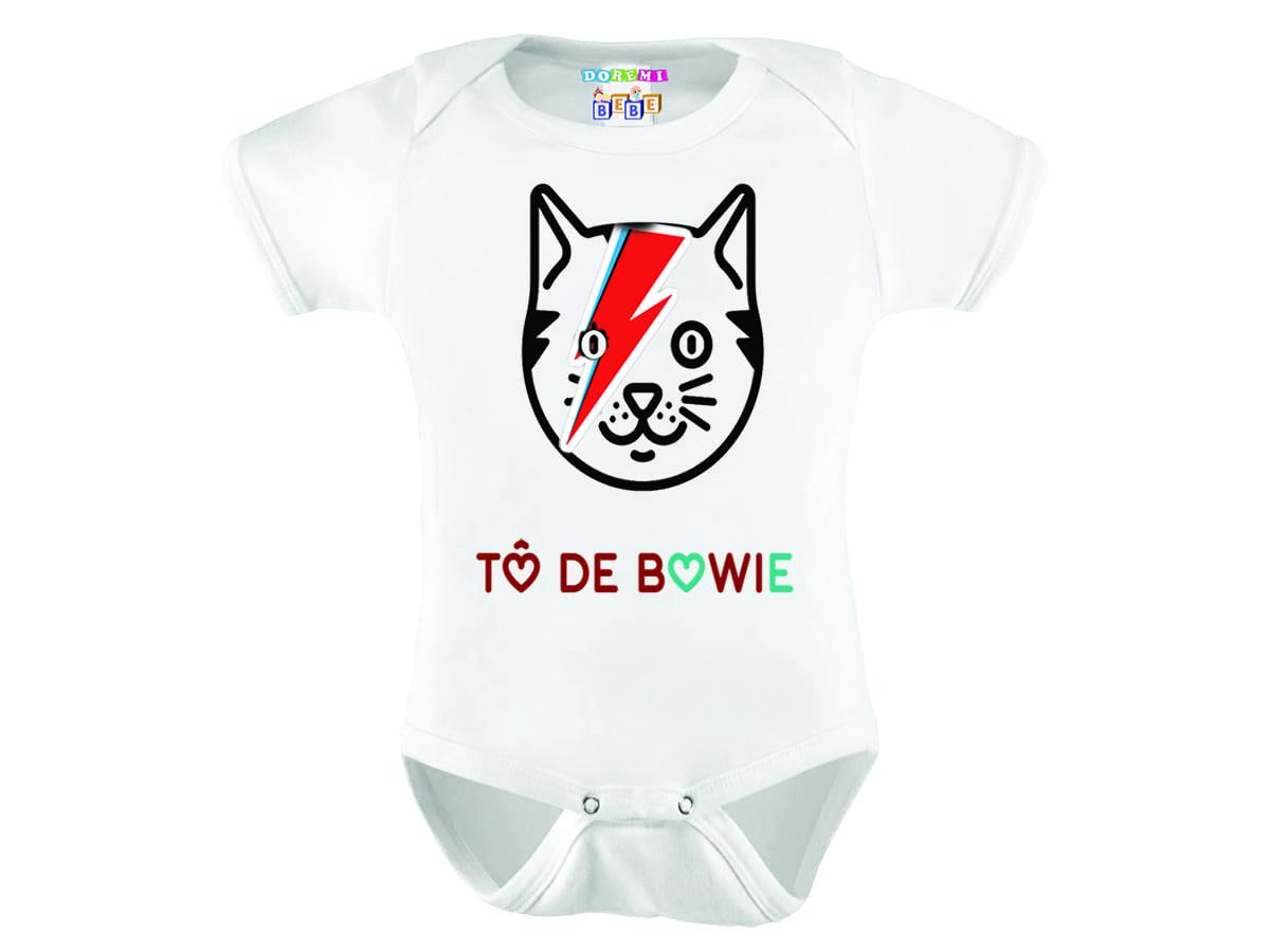 Body Personalizado Bebê Manga Curta TO DE BOWIE