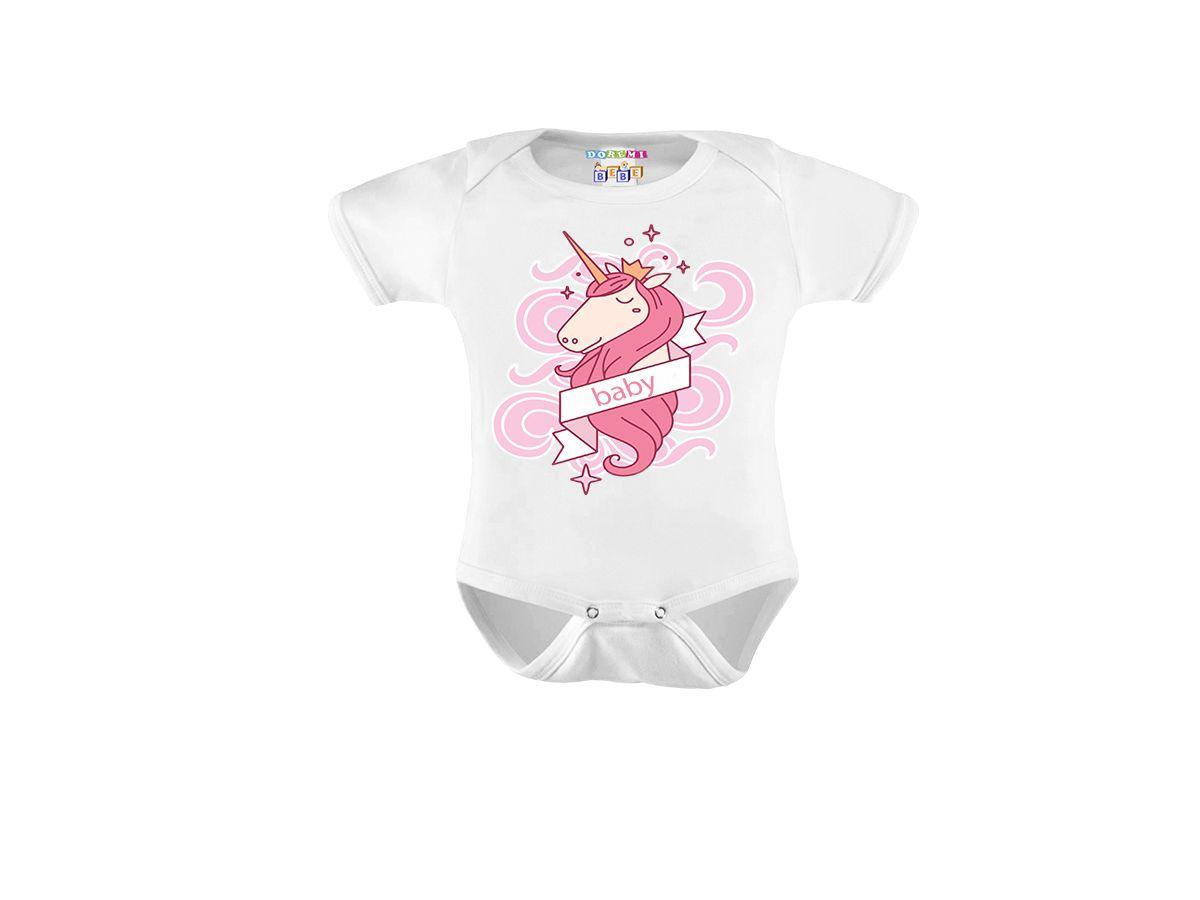 Body Personalizado com Estampa Unicórnio - Do Re Mi Bebê