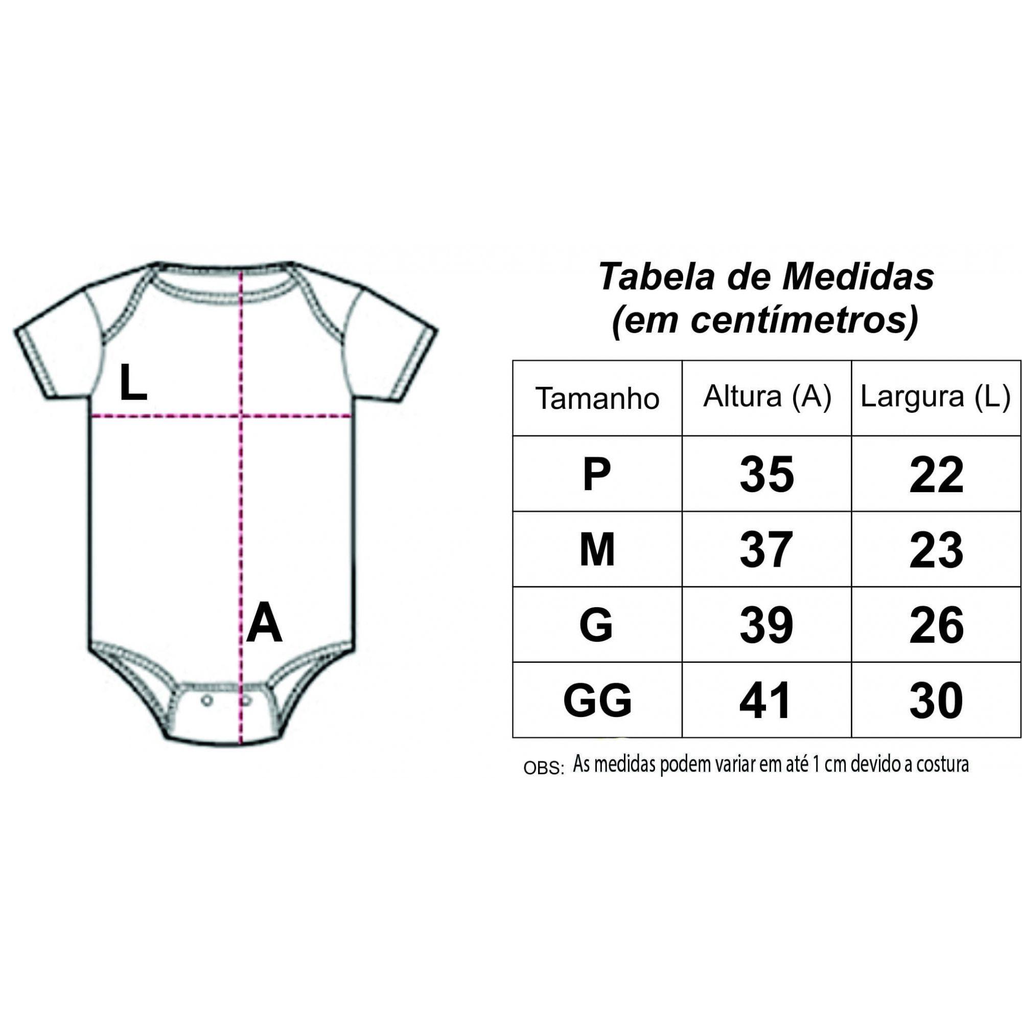 Body Personalizado M/C 1° Réveillon - Do Re Mi Bebê