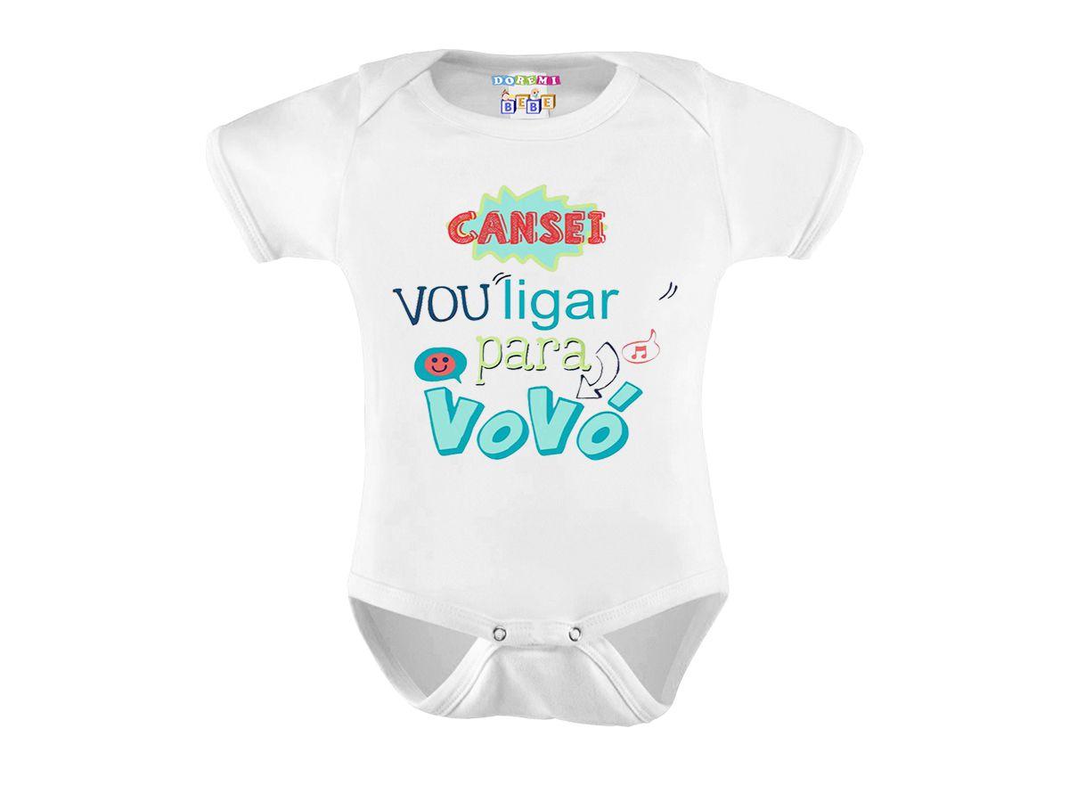 Body Personalizado M/C Cansei Vou Ligar Para Vovó - Do Re Mi Bebê