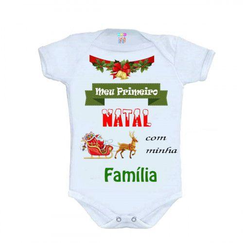 Body Personalizado M/C Meu Primeiro Natal - Do Re Mi Bebê