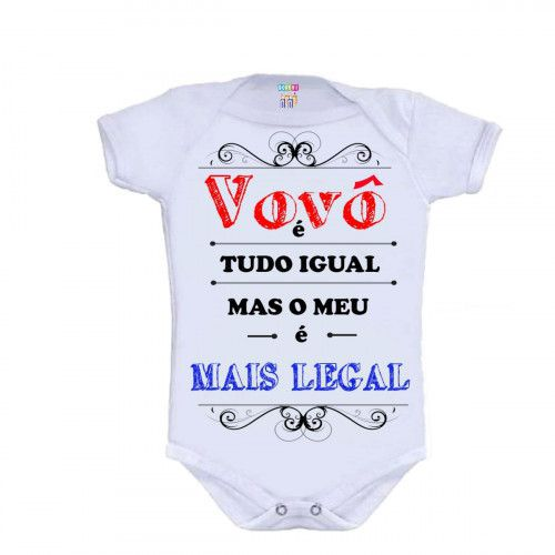 Body Personalizado M/C Vovô + Legal - Do Re Mi Bebê