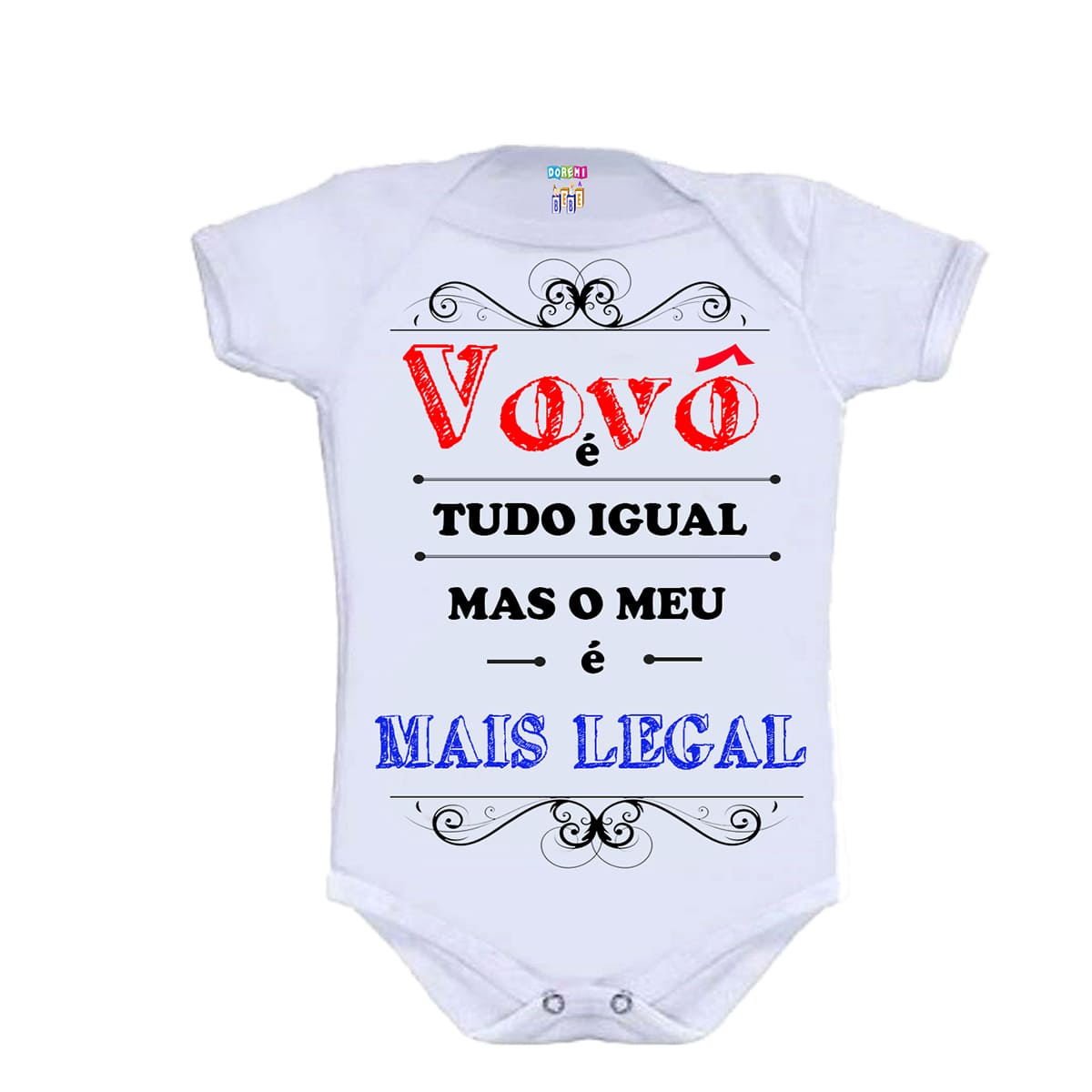 Body Personalizado M/C Vovô + Legal - Do Re Mi Bebê