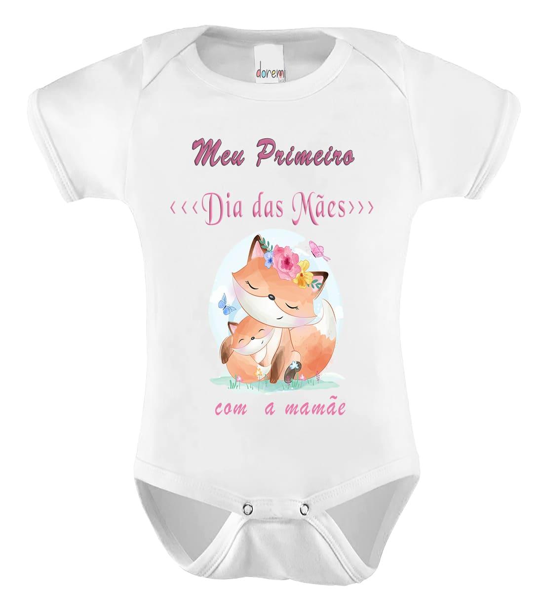 Body Personalizado Meu 1º Dia das Mães - Doremi Bebê