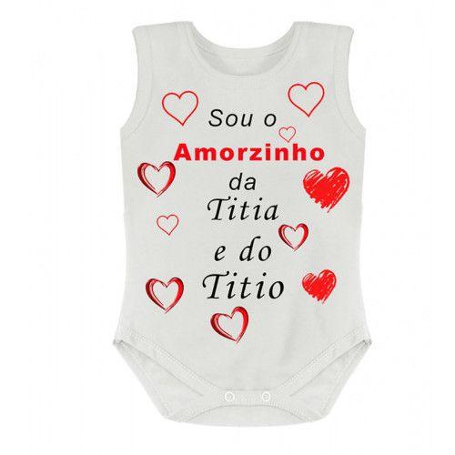 Body Personalizado S/M Amorzinho da Titia