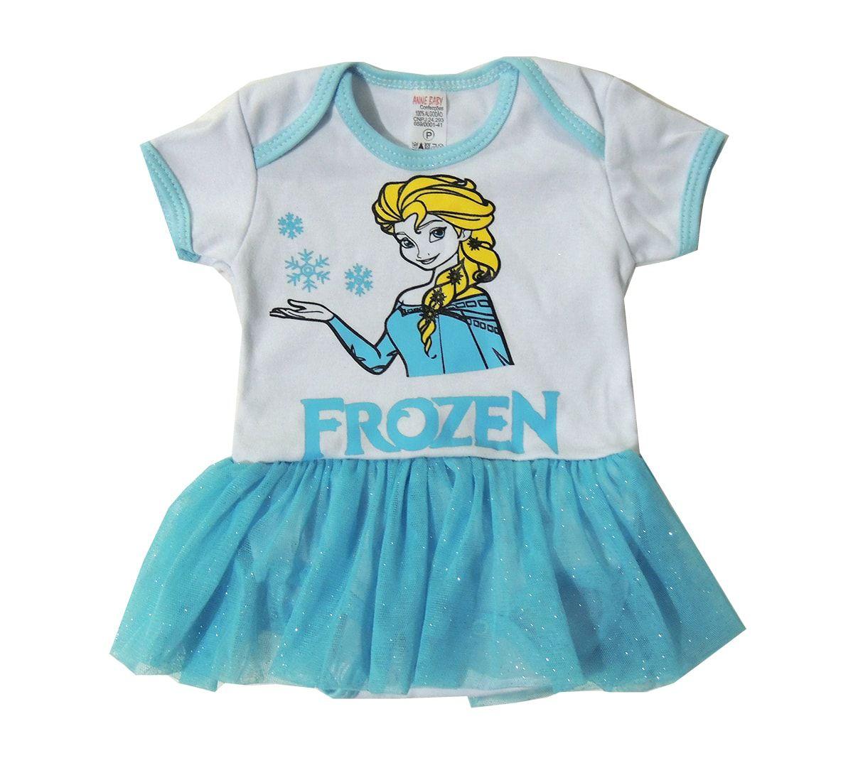 Body Saia Infantil Menina Frozen