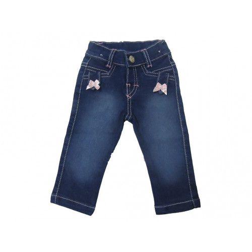 Calça Jeans Azul Marinho Infantil Menina