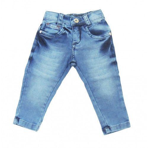 Calça Jeans Bebê Menino Azul Claro Mackvanny