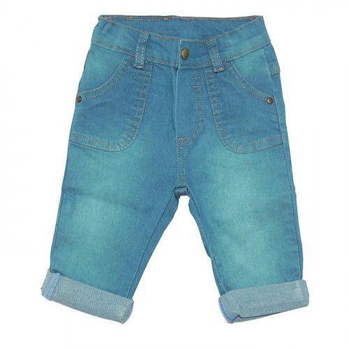 Calça Jeans Bebê Menino com Bolso Sobre Posto