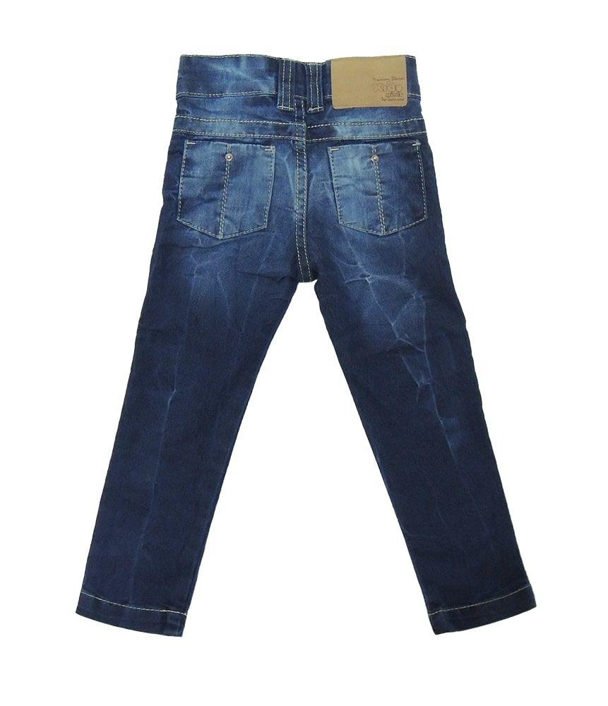 Calça Jeans Infantil Amassadinho Menino