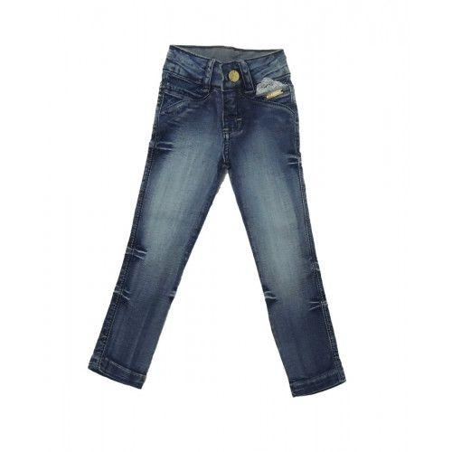 Calça Jeans Infantil Aplique Renda no Bolso