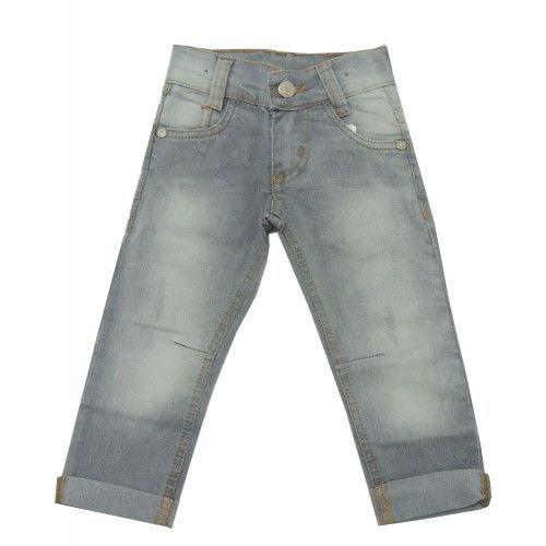 Calça Jeans Infantil Menino Cinza Puídos