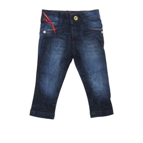 Calça Jeans Laço Vermelho Bebê Menina