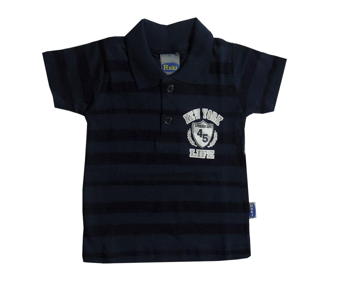 Camisa de Bebê Polo em Malha Estampas Diversas
