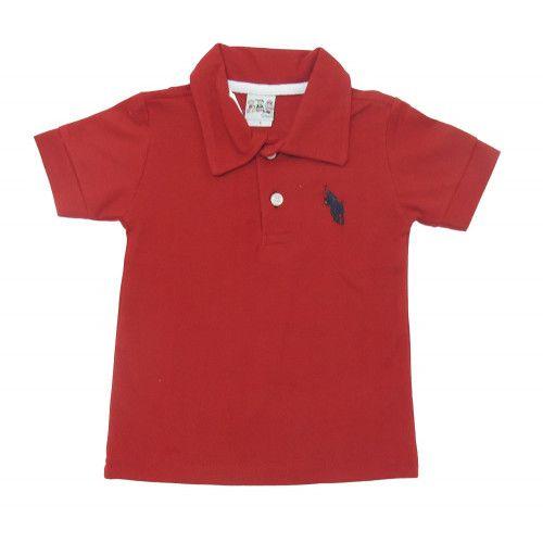 Camisa Infantil Polo Bordado de Cavalo