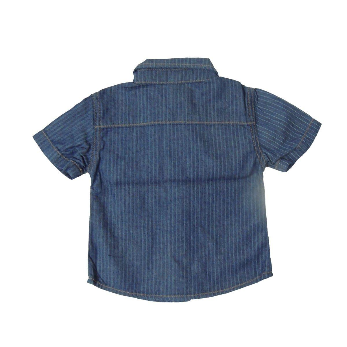 Camisa Jeans Bebê Manga Curta Baby Gijo