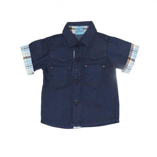 Camisa Jeans Bebê Manga Curta Clube do Doce