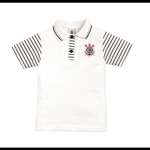 Camisa Polo Corinthians Manga Curta Oficial a9b66d51bba