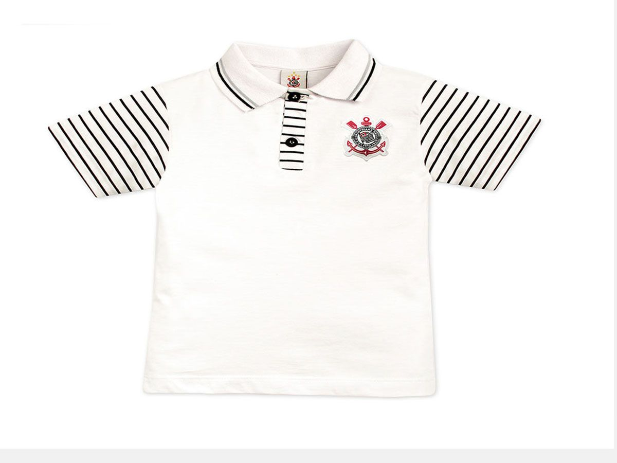 Camisa Polo Corinthians Manga Curta Oficial