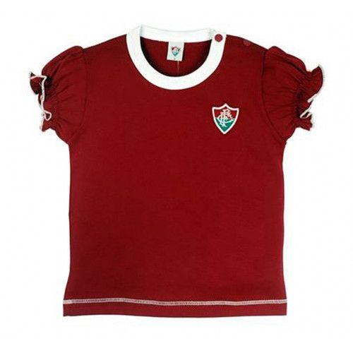 Camiseta Baby Look Bebê Menina Fluminense Oficial