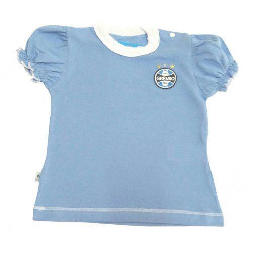 Camiseta Baby Look Bebê Menina Grêmio Oficial