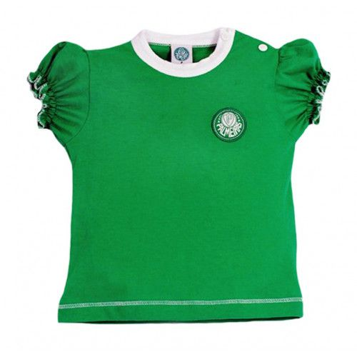 Camiseta Baby Look Bebê Menina Palmeiras Oficial