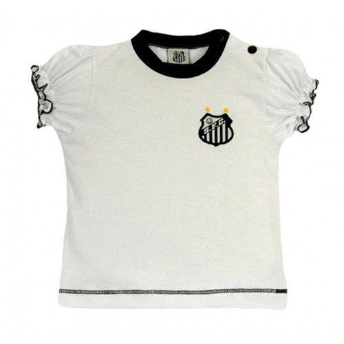 Camiseta Baby Look Bebê Menina Santos Oficial