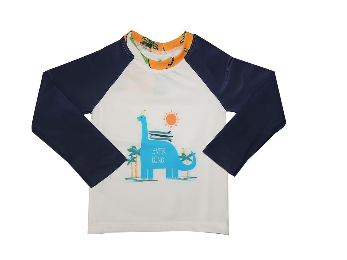 Camiseta Bebê Dino Proteção Solar UV50