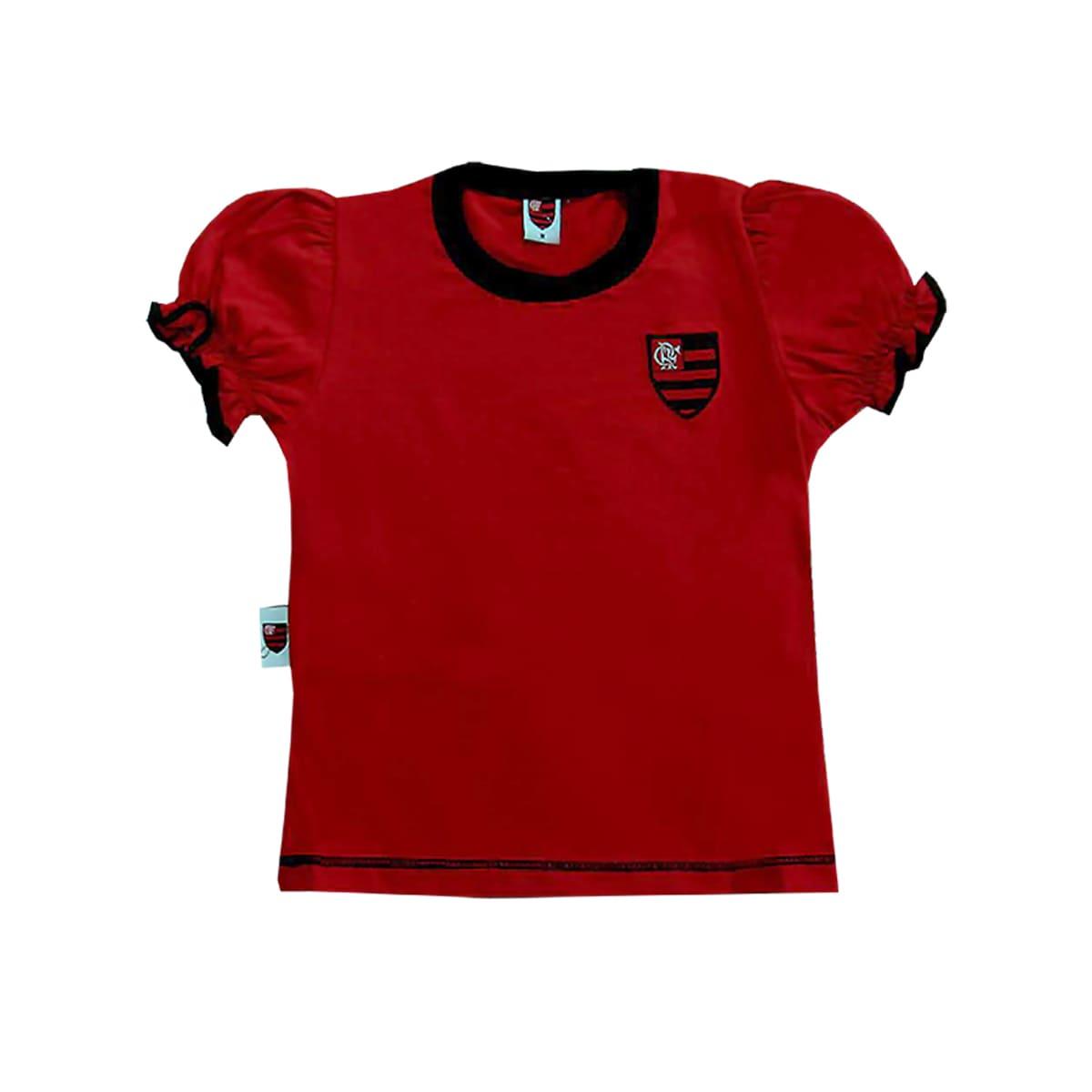 Camiseta Flamengo Infantil Baby Look Menina