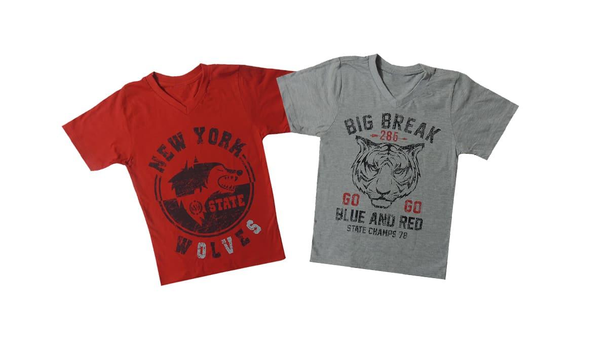 Camiseta Infantil com 2 Peças Sortidas