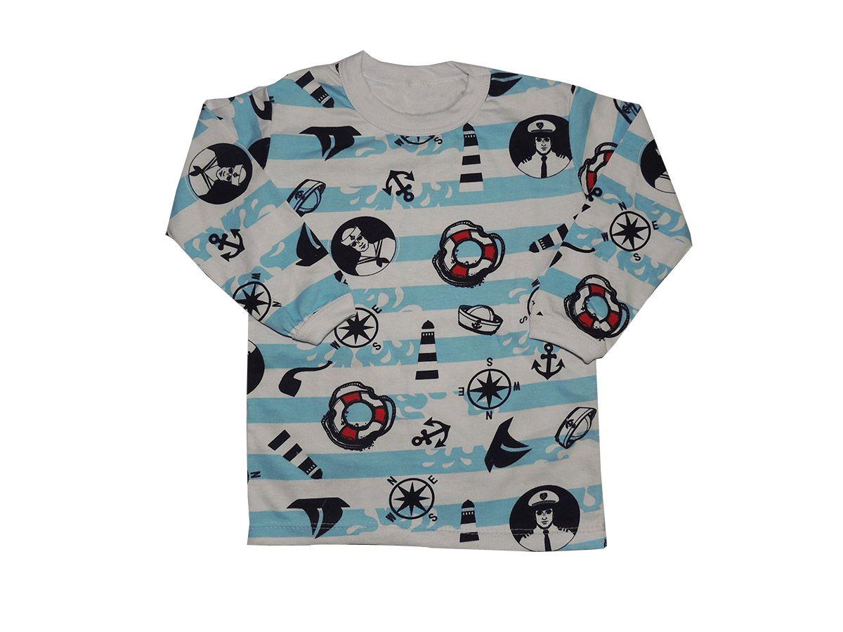 Camiseta Infantil em Malha Estampada