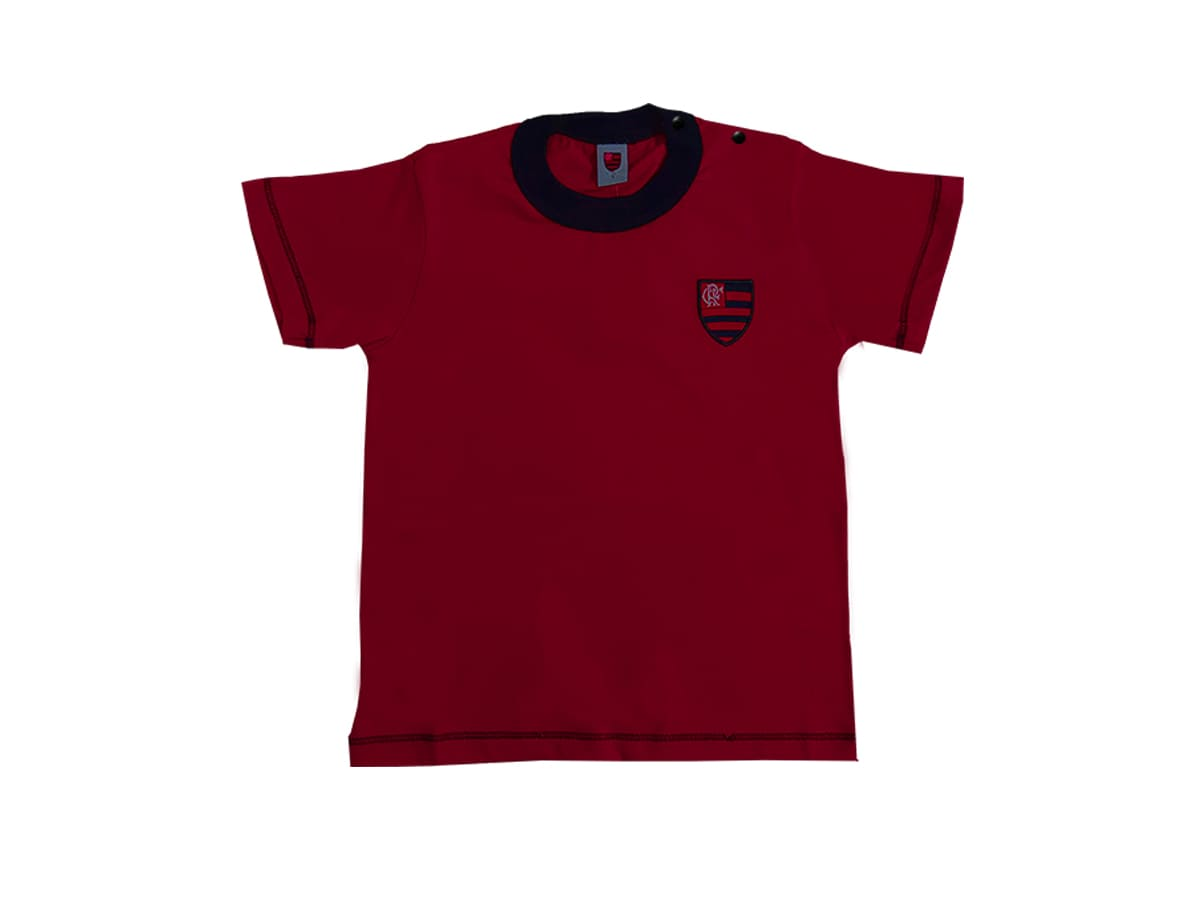 Camiseta Infantil Flamengo Bebê Menino